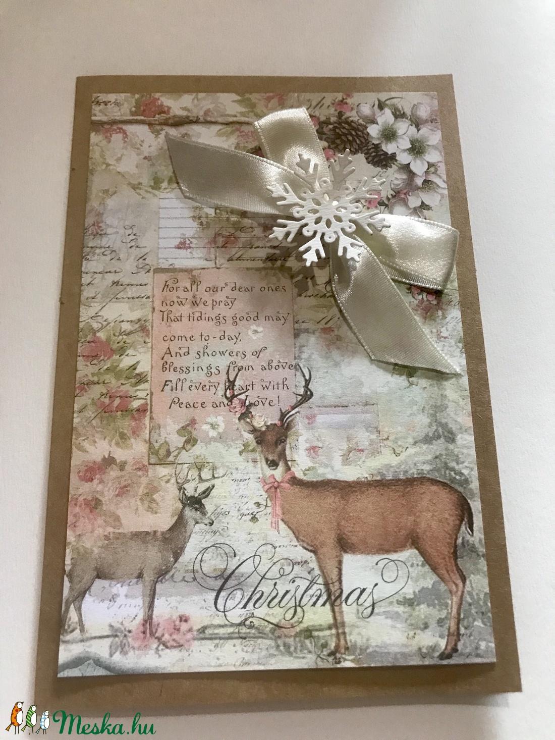 Vintage, rózsaszín karácsony (papirosbolt) - Meska.hu