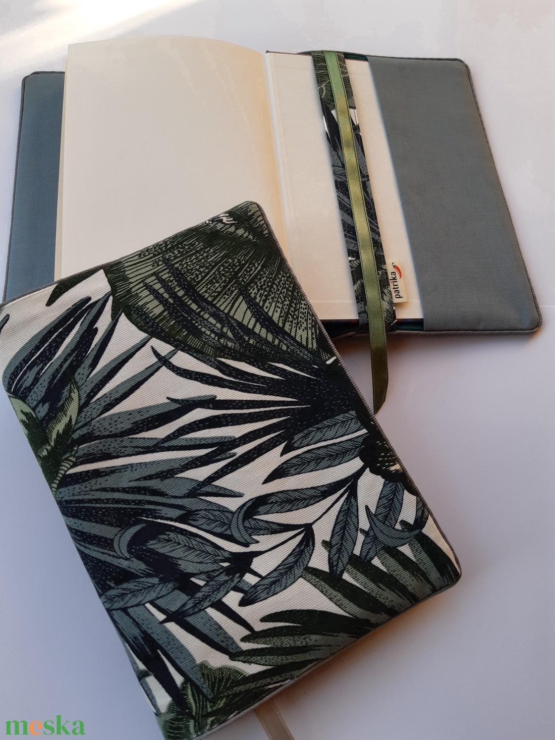 Könyvkabát - leveles (textil) (patrika) - Meska.hu