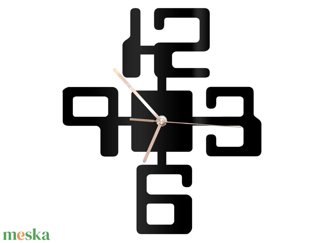 Design falióra, 4 számjegyes - otthon & lakás - dekoráció - falióra & óra - Meska.hu