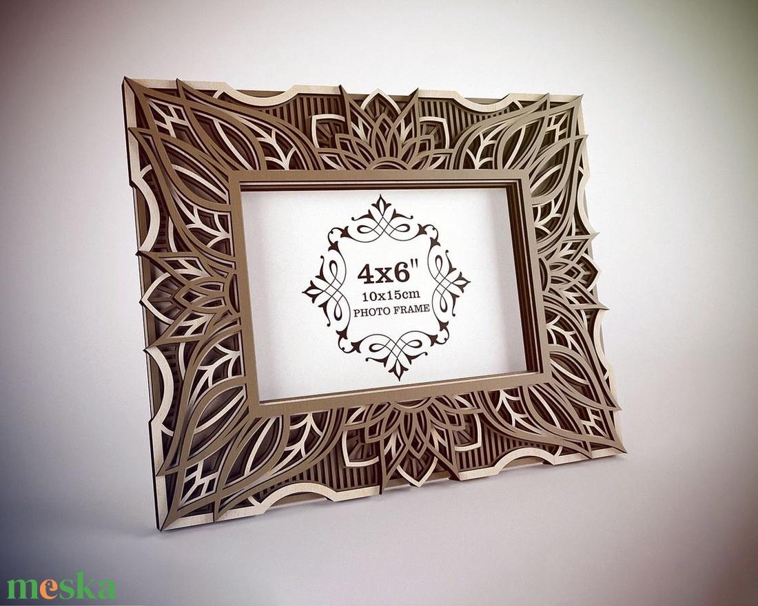 Mandala képkeret 15 x 10 cm-es fotónak - otthon & lakás - dekoráció - képkeret - Meska.hu