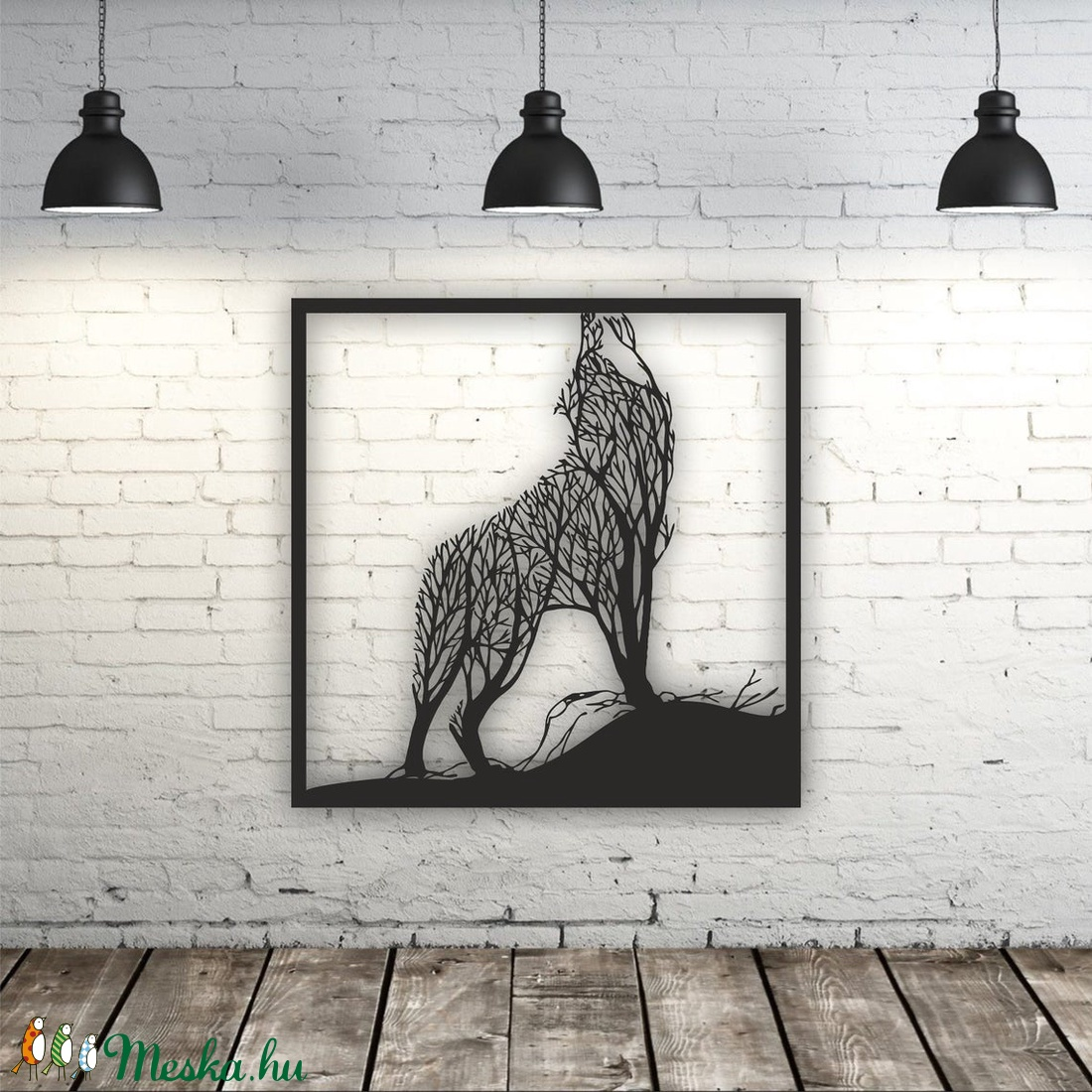 Farkas mintájú fali kép fából - otthon & lakás - dekoráció - kép & falikép - Meska.hu