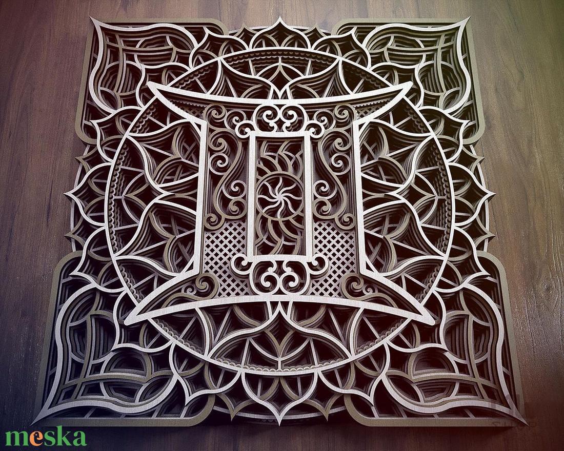 Mandala csillagjegy, Ikrek - otthon & lakás - dekoráció - falra akasztható dekor - Meska.hu