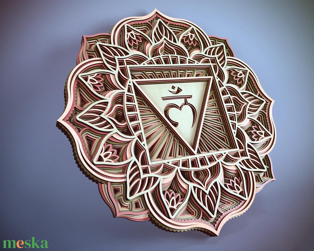 Mandala csakra - Gyökércsakra, Muladhara - otthon & lakás - dekoráció - falra akasztható dekor - Meska.hu