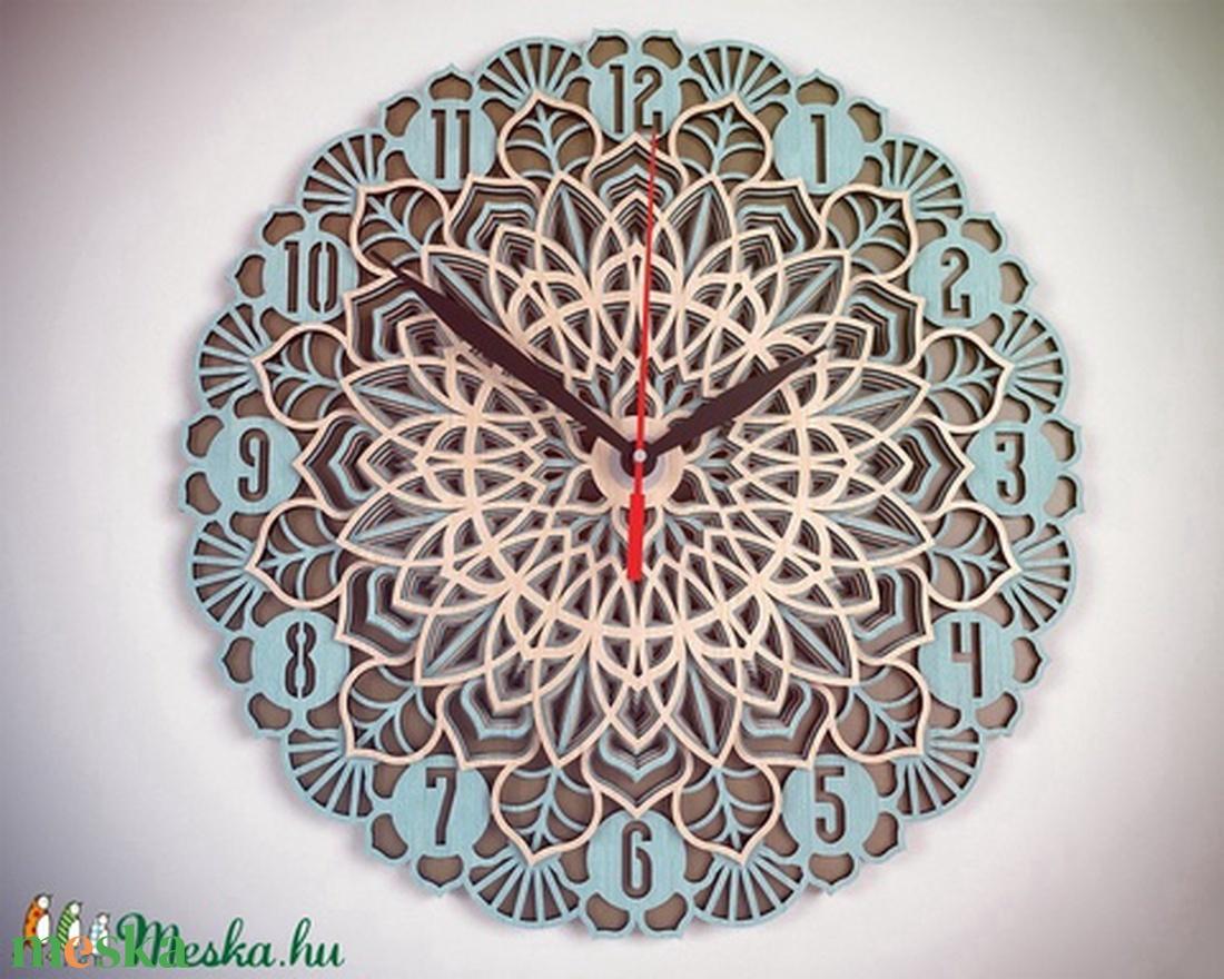 Egyedi méretű Mandala falióra, 38 cm átmérőjű - otthon & lakás - dekoráció - falióra & óra - Meska.hu