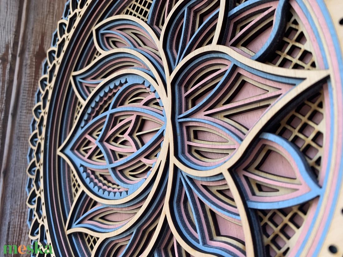 Mandala lótusz virág #2 - otthon & lakás - dekoráció - falra akasztható dekor - Meska.hu