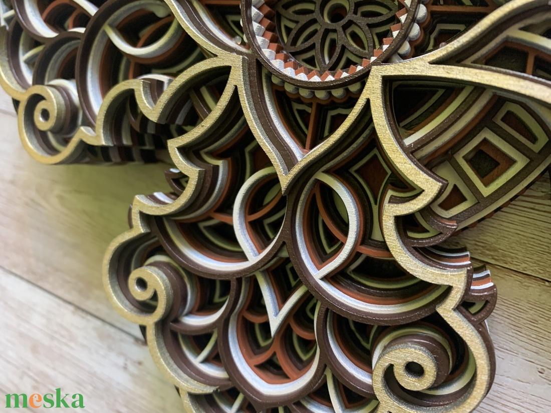 Mandala kereszt - otthon & lakás - dekoráció - dísztárgy - Meska.hu