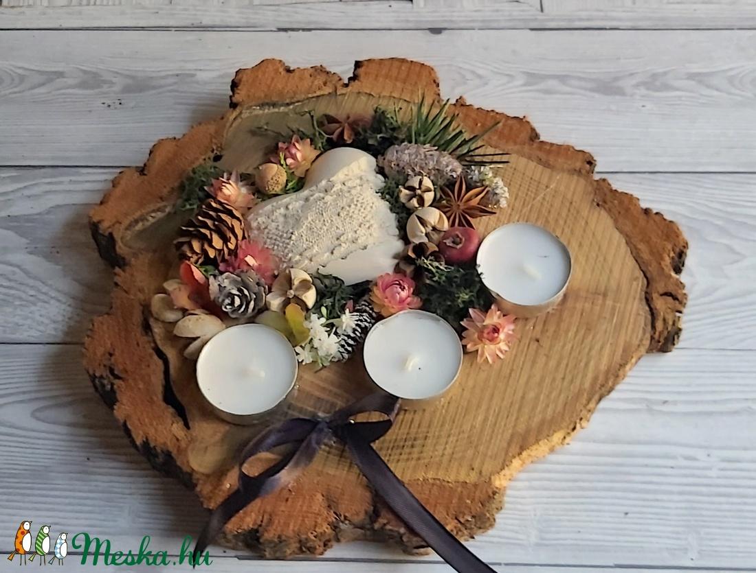 Faszeletes  sírdísz, kegyeleti dísz, emlékezés dísze - otthon & lakás - spiritualitás & vallás - temetkezési tárgy - Meska.hu