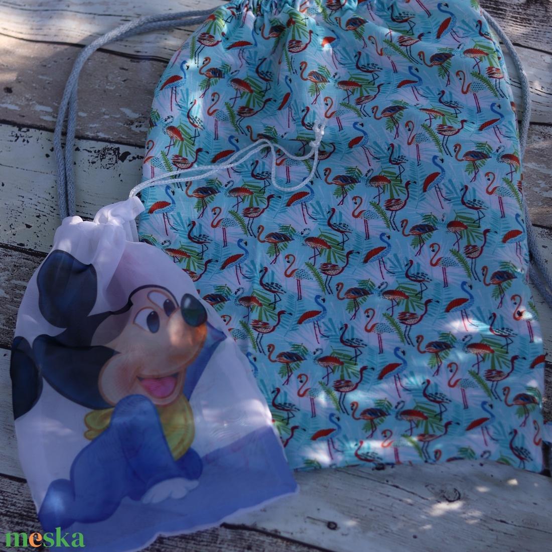Flamingó mintás tornazsák, hátizsák ajándék szütyővel - ovi- és sulikezdés - tornazsák, gymbag - Meska.hu