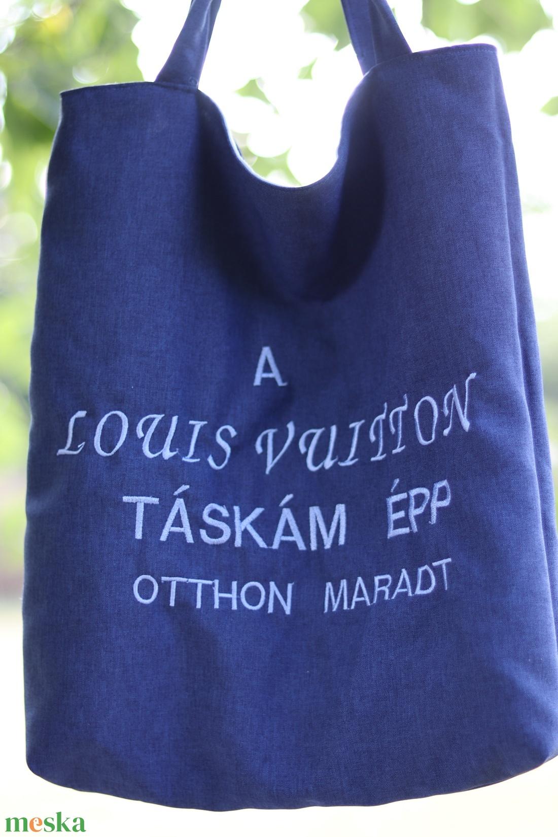 Hímzett textíl szatyor, vicces hímzéssel - táska & tok - bevásárlás & shopper táska - shopper, textiltáska, szatyor - Meska.hu