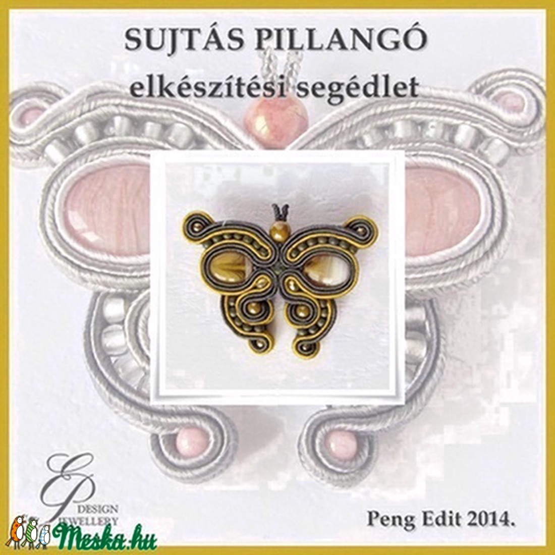 Pillangó sujtás ékszer elkészítési segédlet egyéni felhasználásra (Pengedit) - Meska.hu