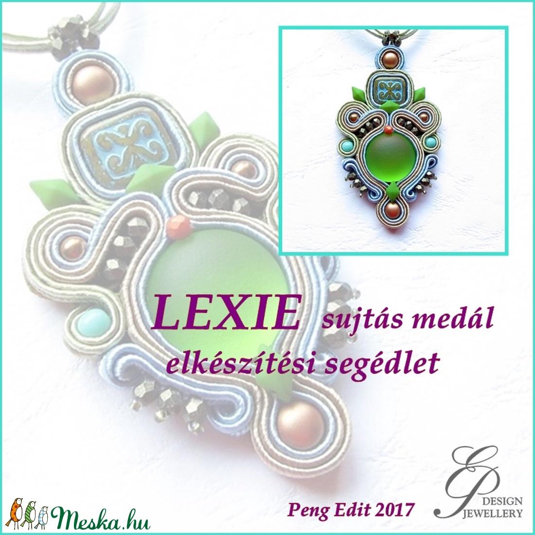 Lexie sujtás medál elkészítési segédlet (Pengedit) - Meska.hu