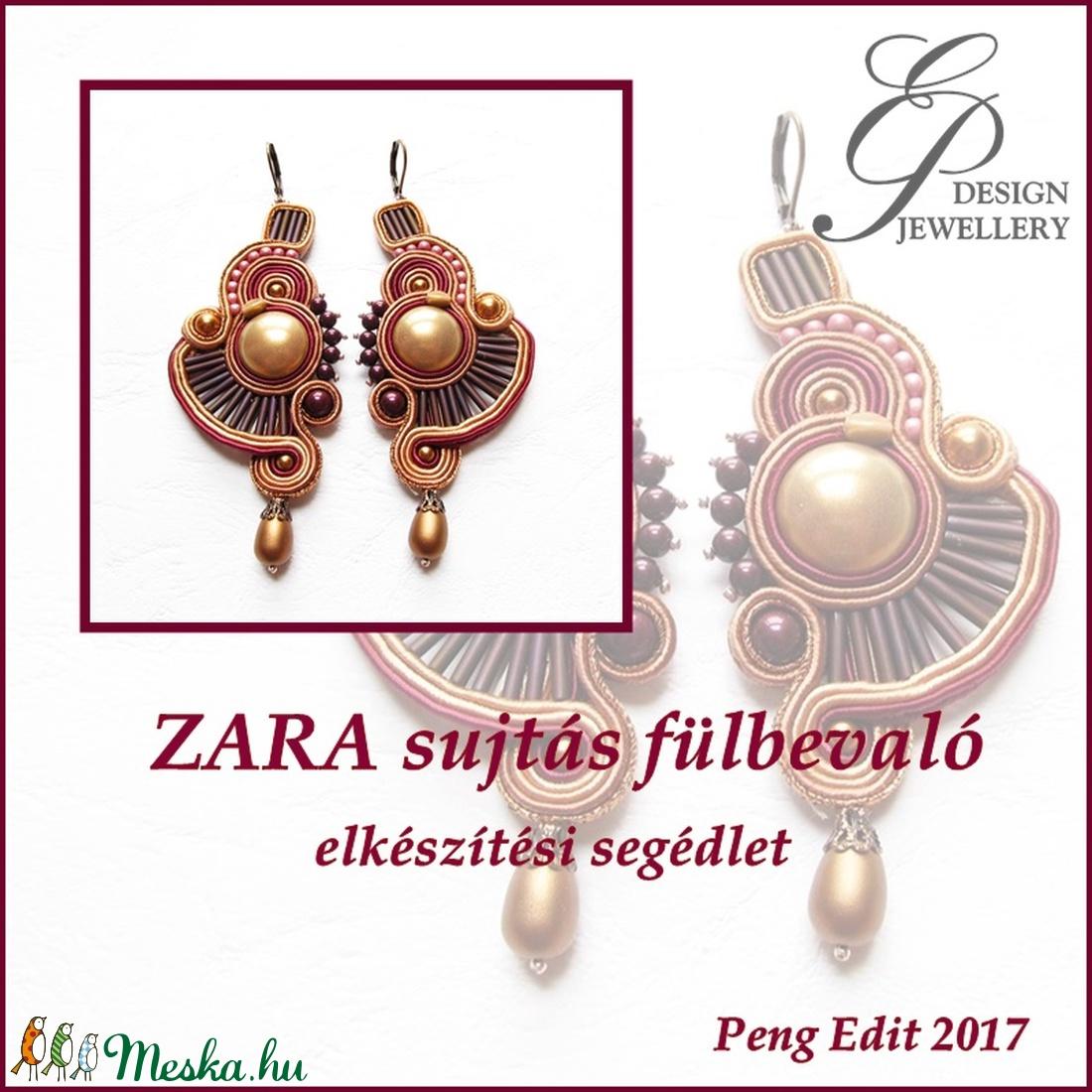 Zara sujtás fülbevaló elkészítési segédlet (Pengedit) - Meska.hu