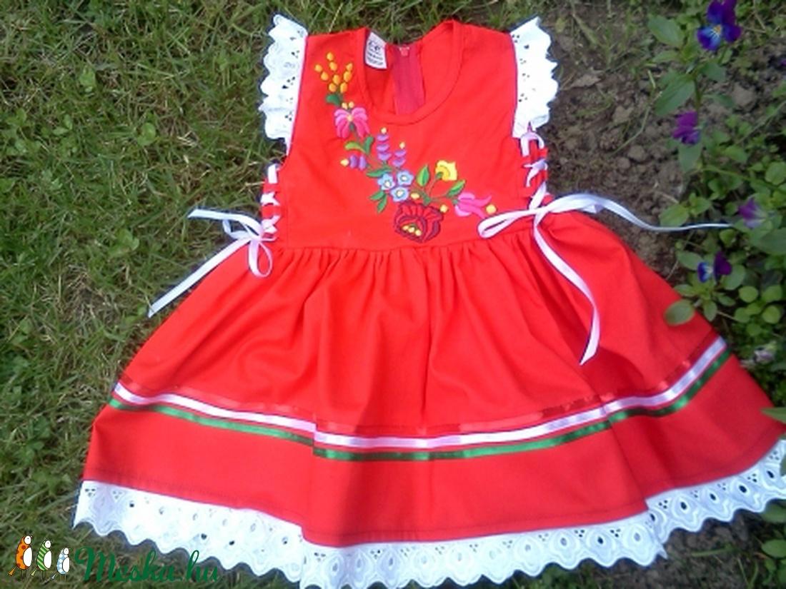 Piros kalocsai hímzett lánykaruha (peteryeva) - Meska.hu 7279abb966