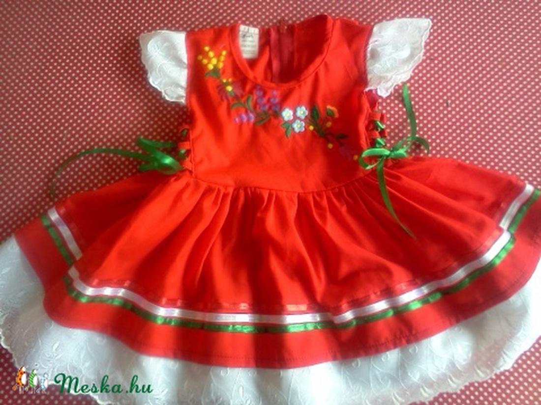piros lányka ruha kalocsai hímzéssel. (peteryeva) - Meska.hu 663659cf04
