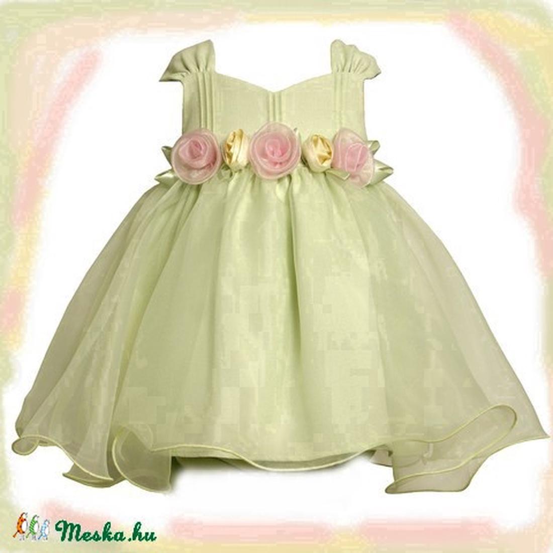 Rózsás alkalmi lányka ruha (peteryeva) - Meska.hu cb2ea034e0