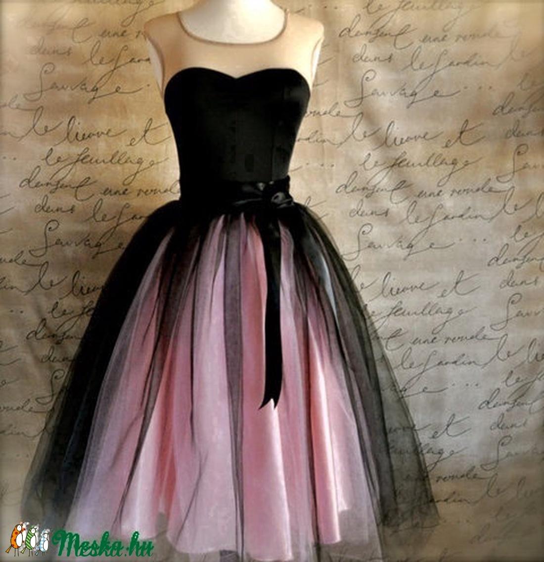 rózsaszín fekete tüll szoknya (peteryeva) - Meska.hu 3fee9f1868