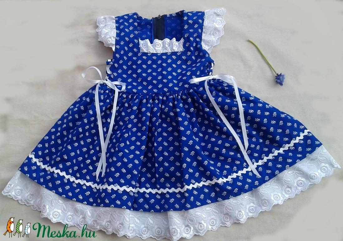 Kékfestő lányka ruha (peteryeva) - Meska.hu 82e54b5804