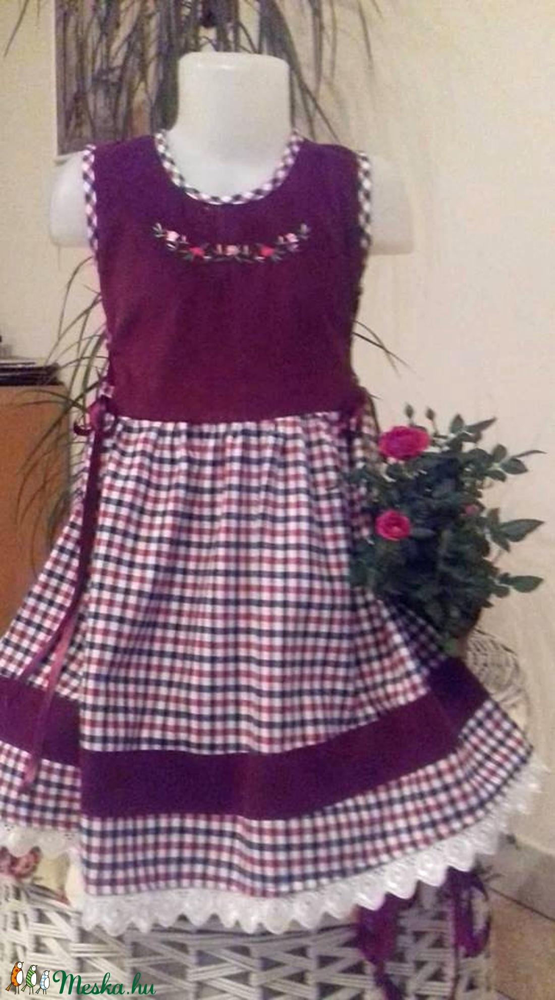 Kordbársony lányka ruha (peteryeva) - Meska.hu 9109fc9de1