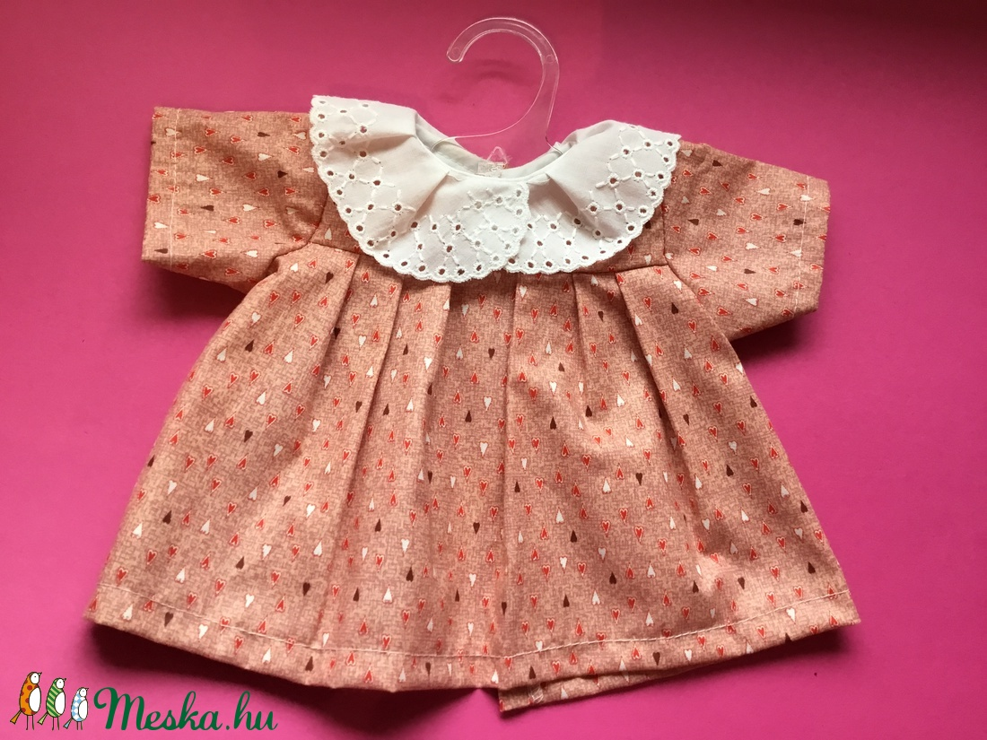 Játékbaba ruha ( hímzett galléros ) (Picimama) - Meska.hu