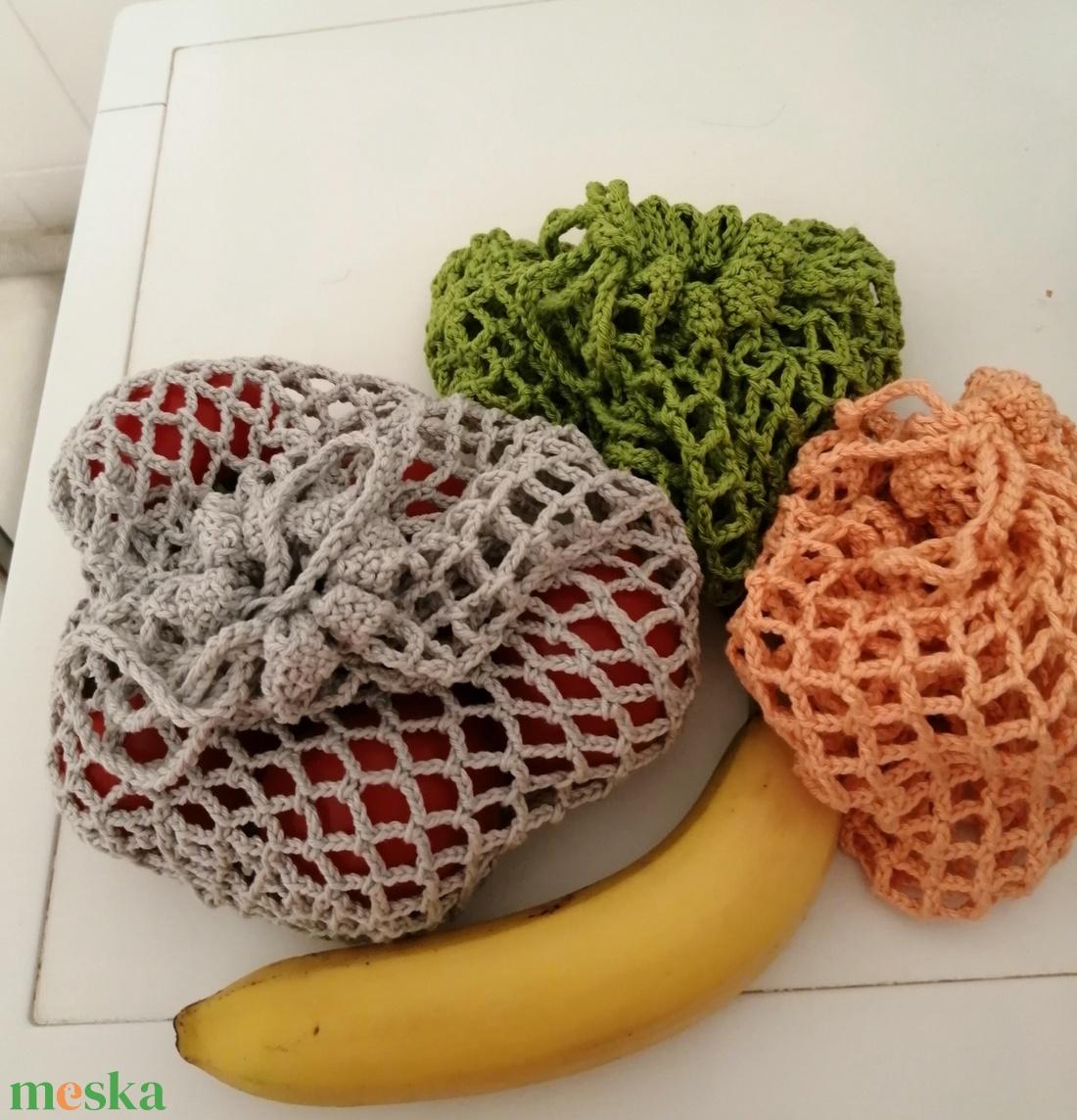 Gyümölcs+zöldség zsák - táska & tok - bevásárlás & shopper táska - zöldség/gyümölcs zsák - Meska.hu