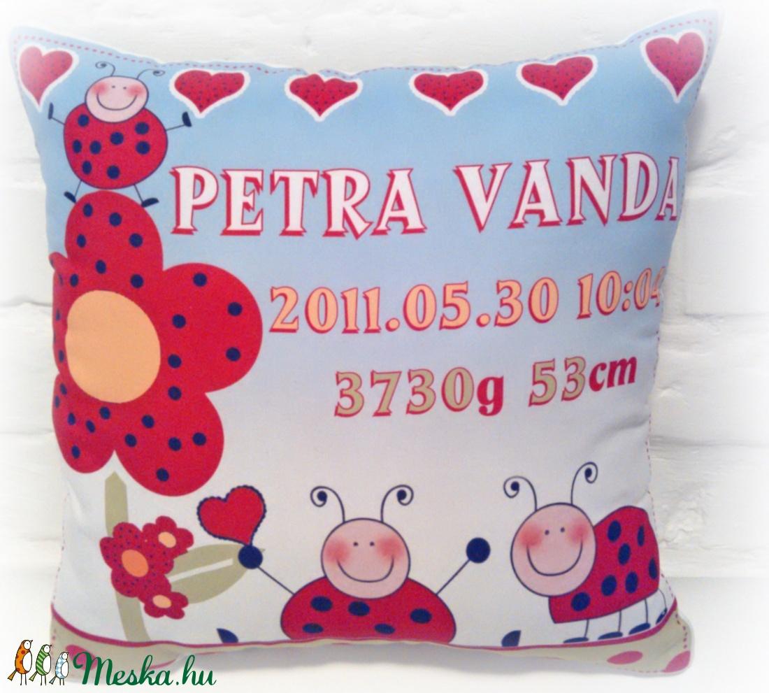 b6e0e95b9f2 Megérkeztem Párna Születési Adatokkal (Pillow) - Meska.hu