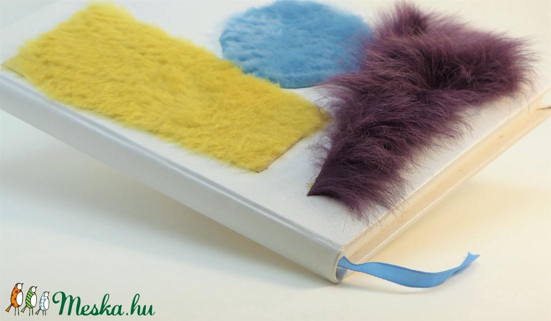 Kolett - notesz, napló, emlékkönyv - fehér bőr 20x28 cm - 313 - otthon & lakás - papír írószer - jegyzetfüzet & napló - Meska.hu