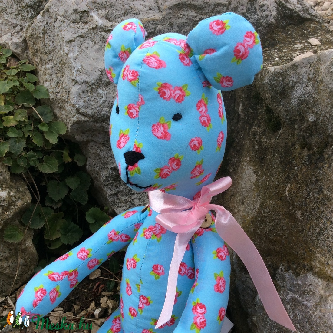 Maci - egyedi tervezésű kézműves játék - textiljáték - maci textil játék - játék & gyerek - plüssállat & játékfigura - maci - Meska.hu