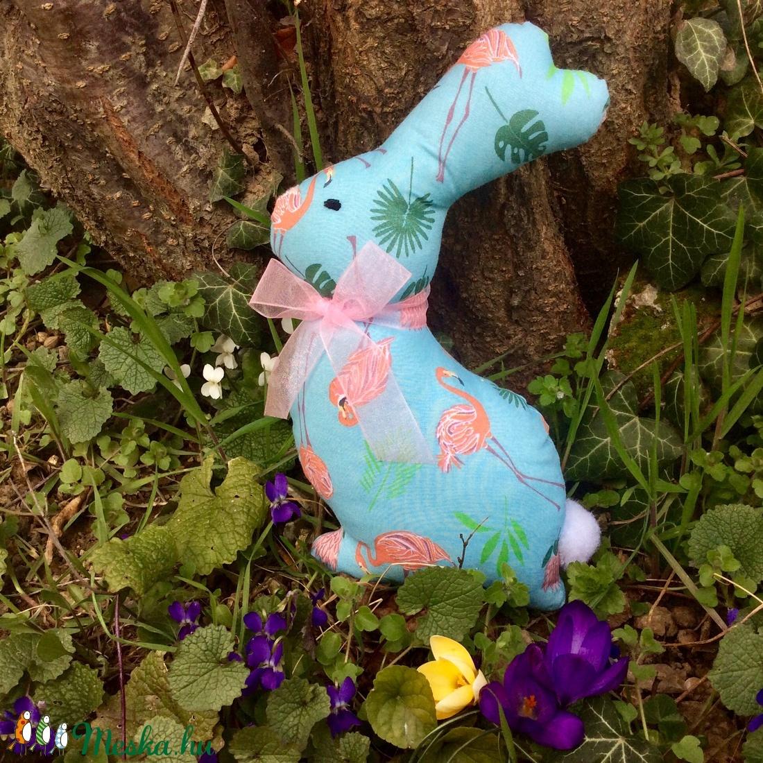Nyuszi - egyedi tervezésű kézműves játék - textiljáték - húsvéti nyúl         - játék & gyerek - plüssállat & játékfigura - nyuszi - Meska.hu