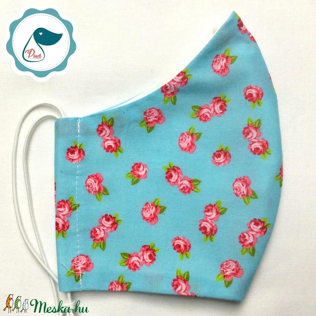 Egyedi szájmaszk - virágos felnőtt női és teenager szájmaszk - textil szájmaszk - egészségügyi szájmaszk (Pindiart) - Meska.hu