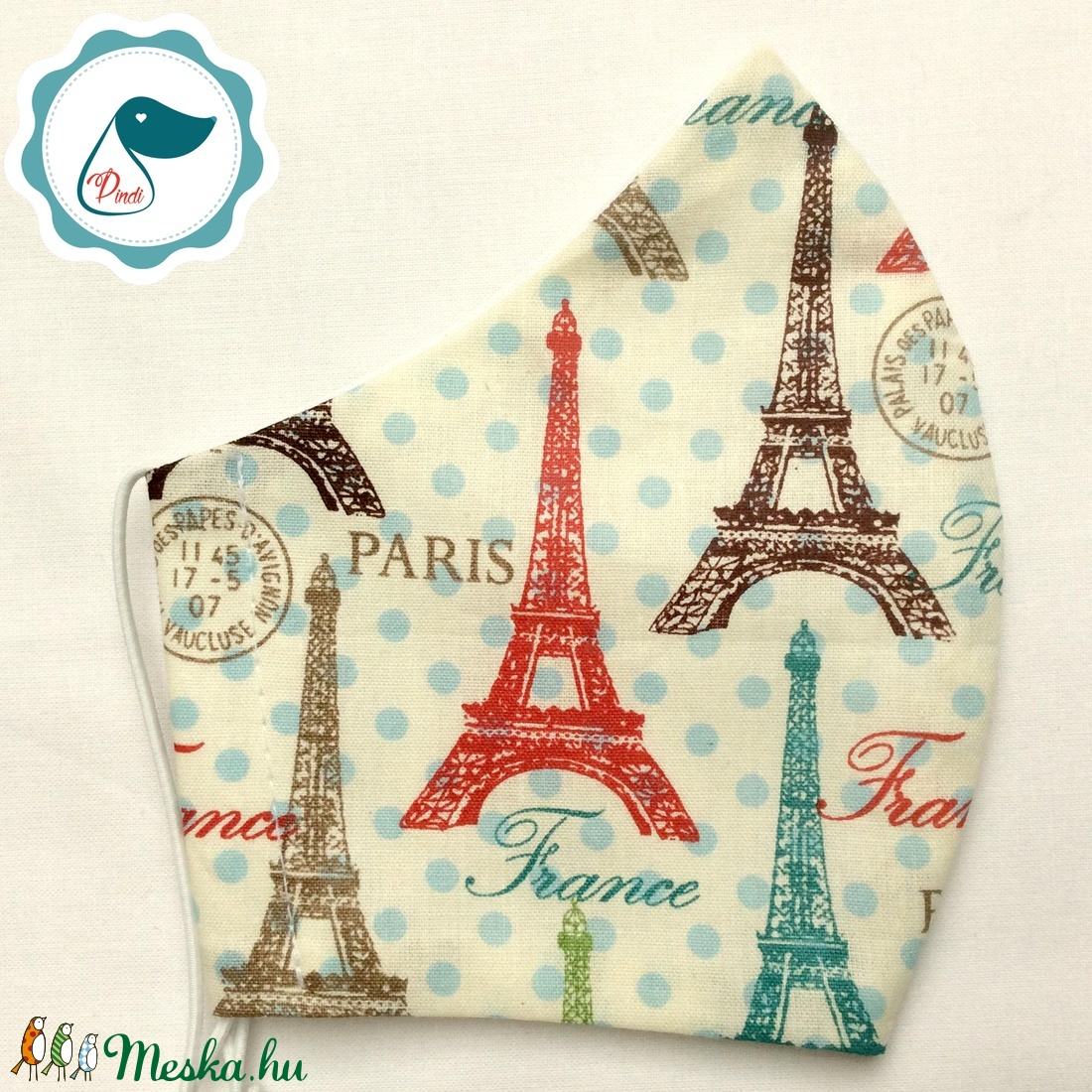 Egyedi Paris mintás kiskamasz - textil arcmaszk - egészségügyi maszk - mosható szájmaszk - maszk, arcmaszk - női - Meska.hu