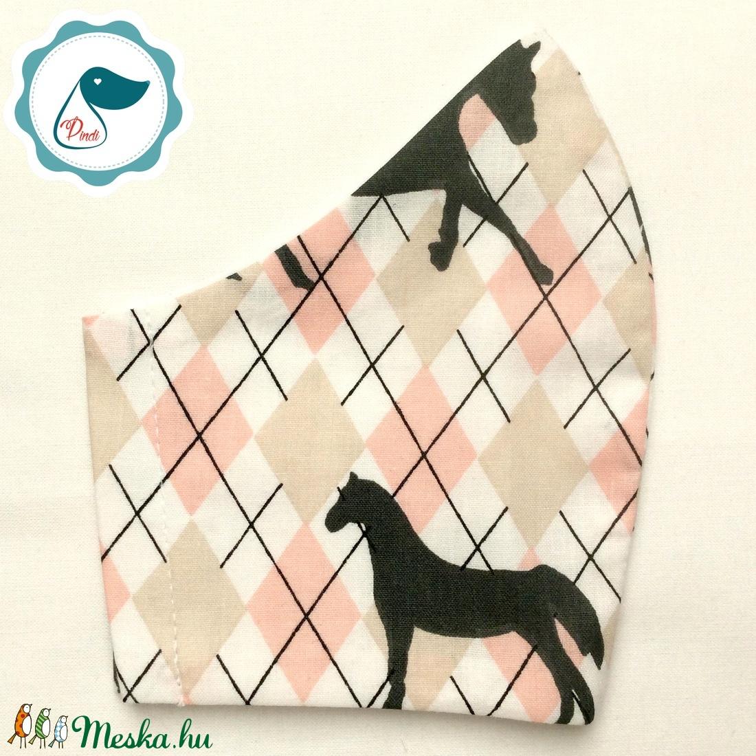 Egyedi ló mintás - felnőtt női és teenager szájmaszk - textil szájmaszk - egészségügyi szájmaszk - maszk, arcmaszk - női - Meska.hu