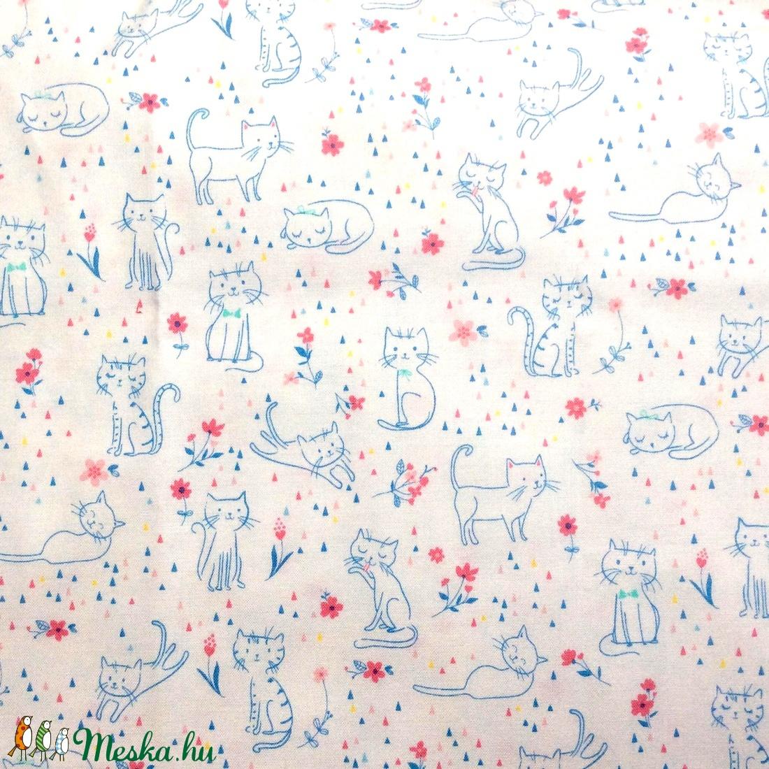 Egyedi cica mintás - kiskamasz - textil szájmaszk - egészségügyi szájmaszk - mosható szájmaszk - maszk, arcmaszk - gyerek - Meska.hu