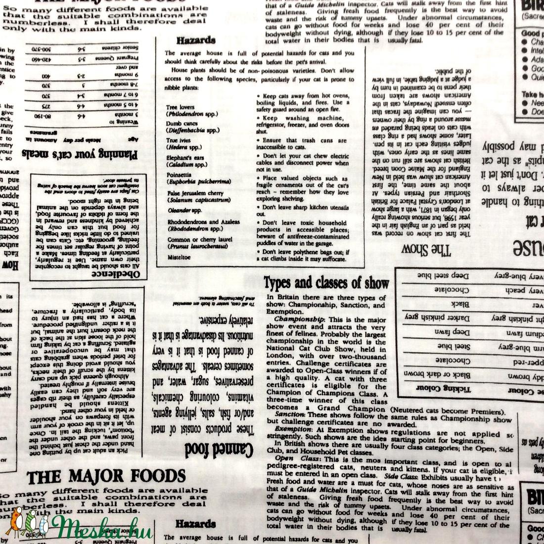 Egyedi újság mintás szájmaszk - férfi szájmaszk - textil szájmaszk - egészségügyi szájmaszk - maszk, arcmaszk - férfi & uniszex - Meska.hu