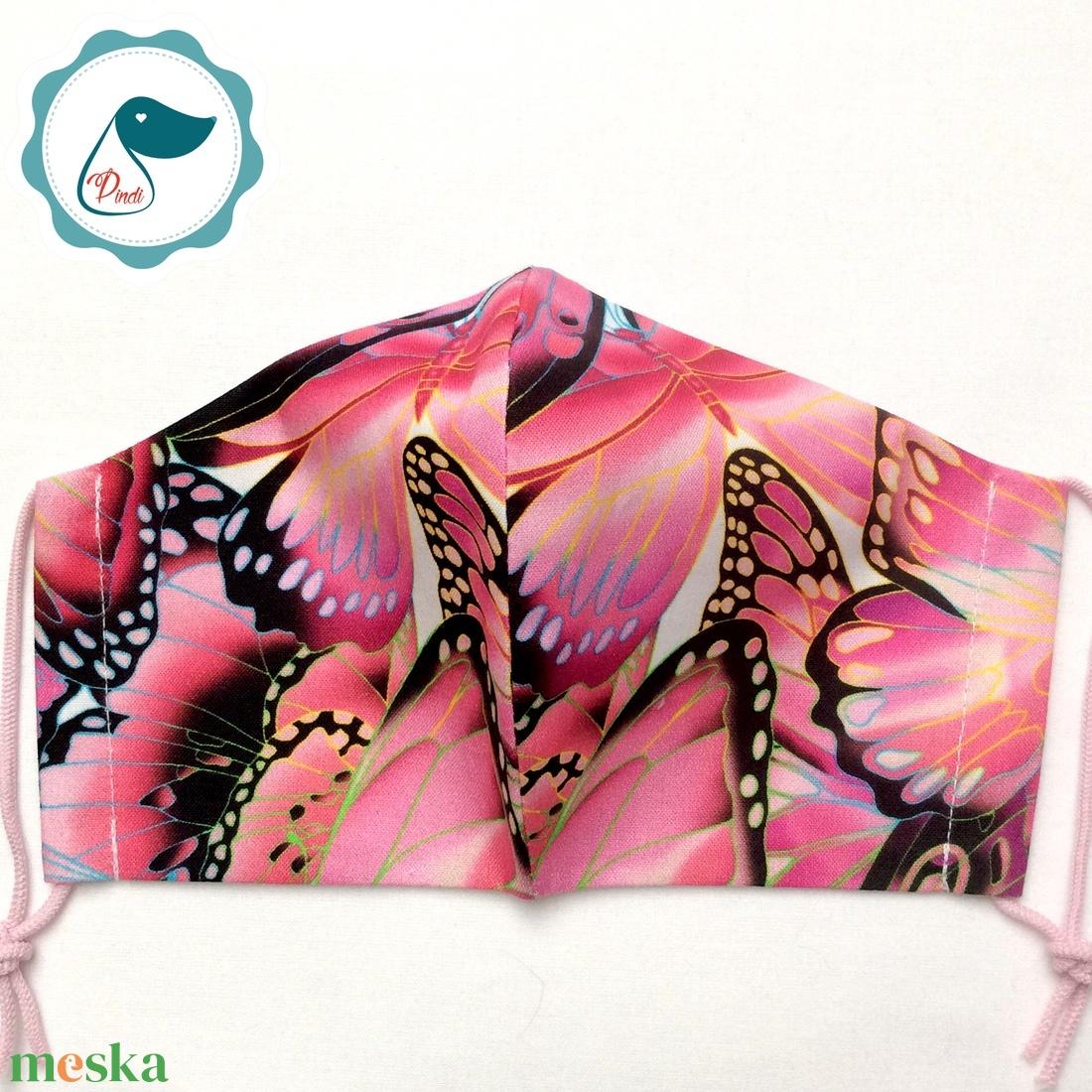 Egyedi pillangós  maszk - prémium felnőtt női és teenager szájmaszk - textil szájmaszk - egészségügyi szájmaszk - maszk, arcmaszk - női - Meska.hu