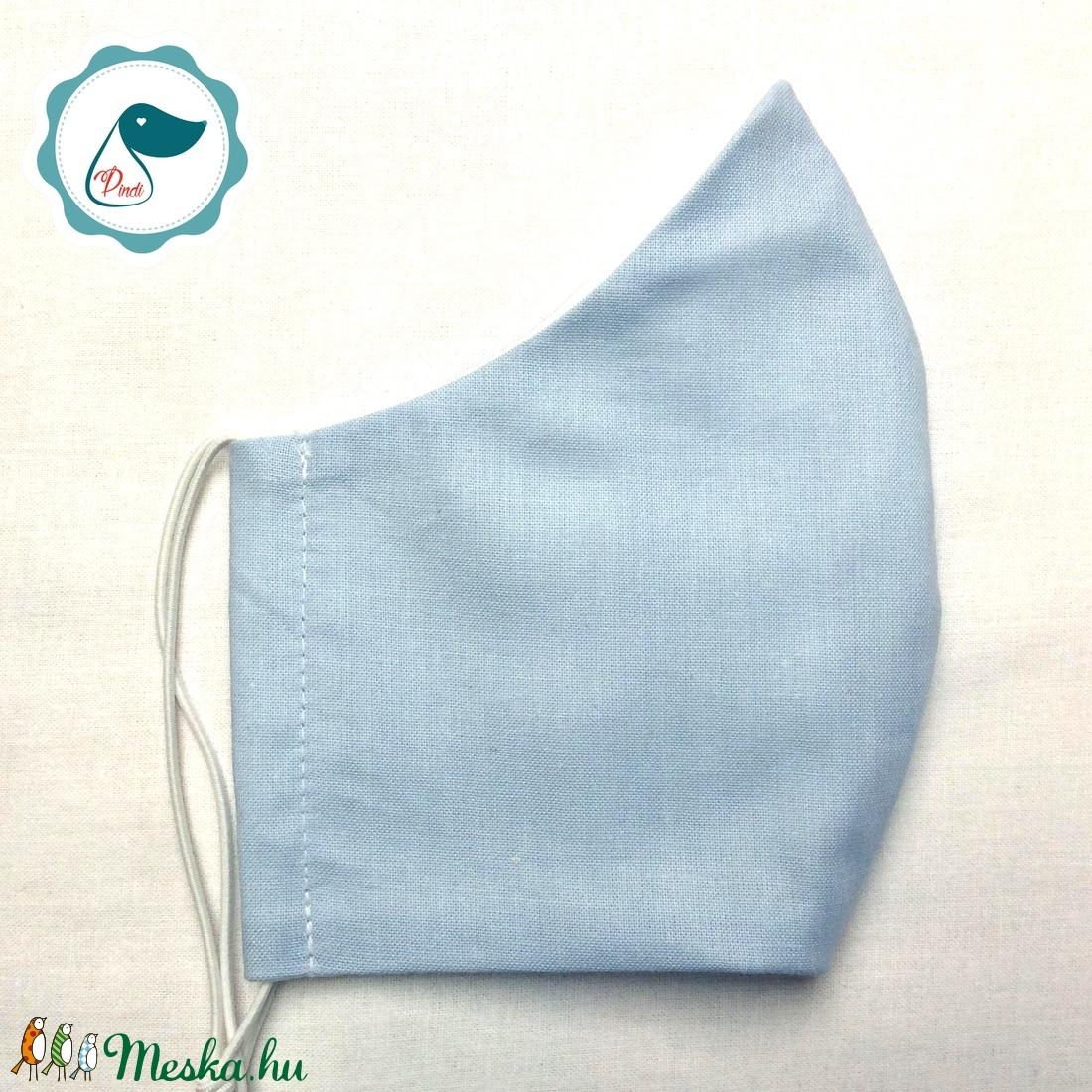 Egyedi világoskék maszk - felnőtt női és teenager szájmaszk - textil szájmaszk - egészségügyi szájmaszk (Pindiart) - Meska.hu