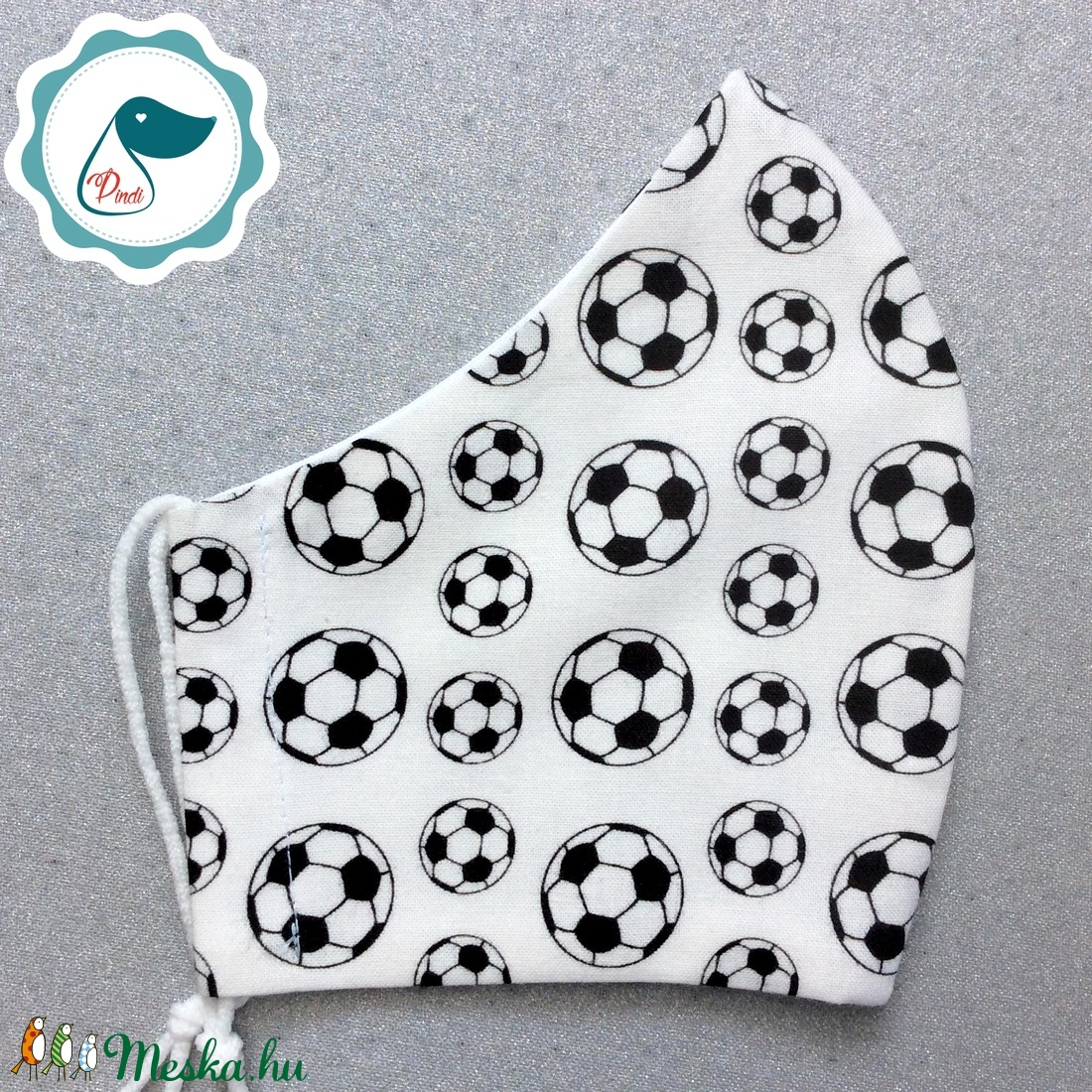 Egyedi- férfi futball labdás maszk - mosható szájmaszk - textil szájmaszk - egészségügyi szájmaszk - maszk, arcmaszk - férfi & uniszex - Meska.hu
