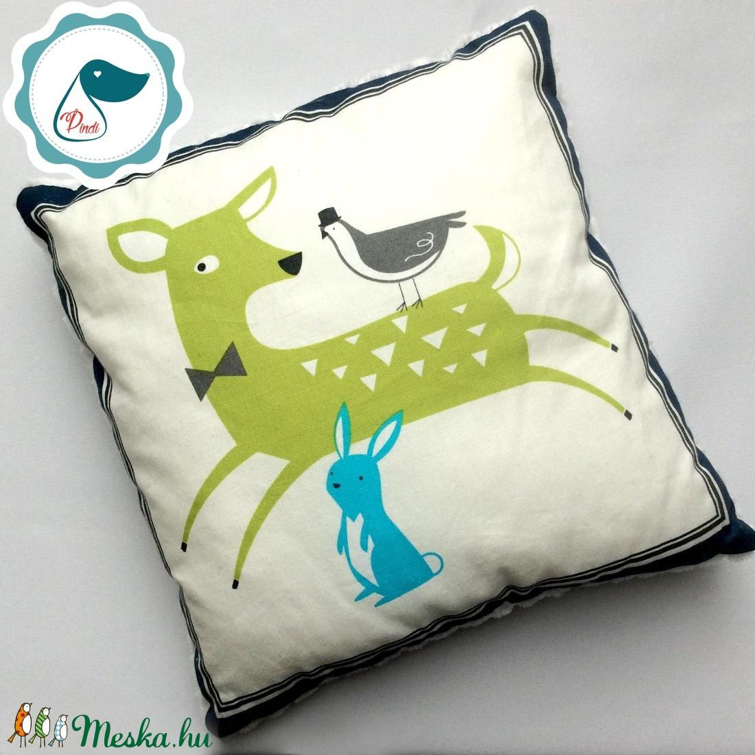 Gyerek őzike,nyusziminás párna - egyedi kispárna - alvópárna - puha kispárna - ovi- és sulikezdés - ovis zsák & ovis szett - egyéb ovis kiegészítő - Meska.hu