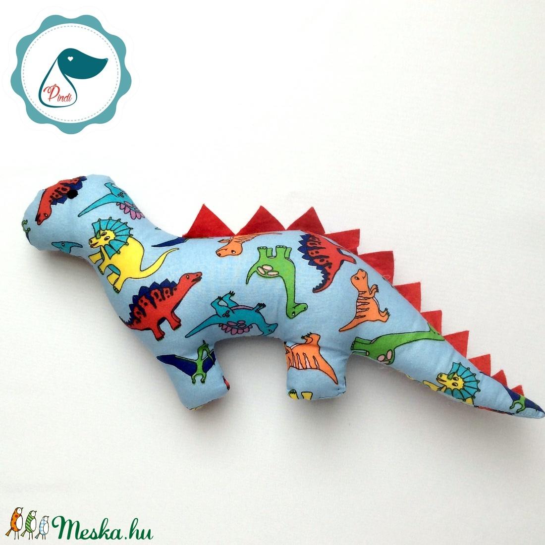 Dinószaurusz - dinó mintás egyedi tervezésű kézműves játék - textiljáték - dinó gyerek játék - Meska.hu