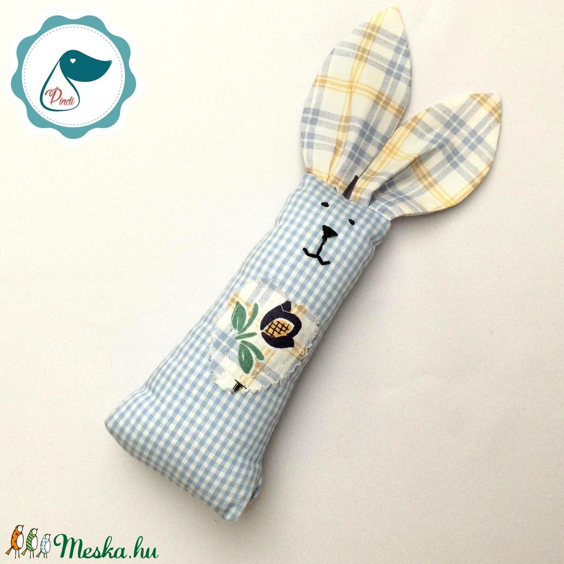 Nyuszi- egyedi tervezésű kézműves játék - textiljáték -  húsvéti nyúl         - Meska.hu