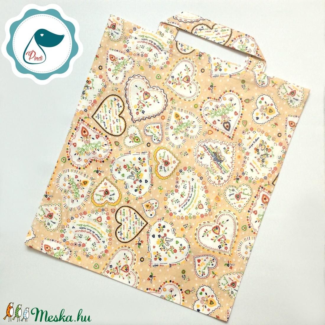 Szatyor - népi motívum mintás - bevásárló táska  - egyedi bevásárló szatyor - textil szatyor - mosható szatyor - táska & tok - bevásárlás & shopper táska - shopper, textiltáska, szatyor - Meska.hu
