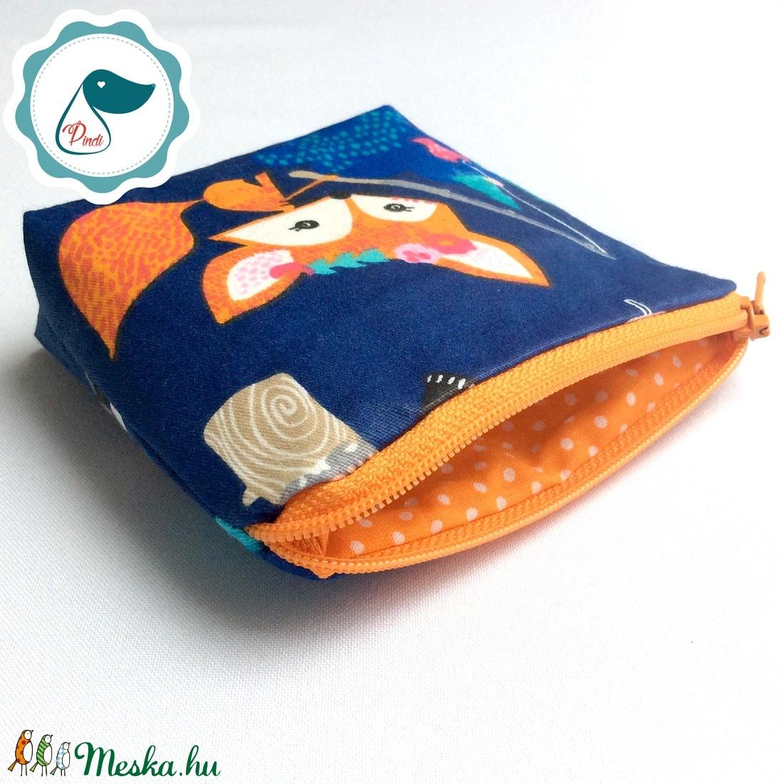 Egyedi prémium róka,bagoly mintás kis neszesszer - táska ki egészítő - tároló - aprópénztartó - táska & tok - neszesszer - Meska.hu