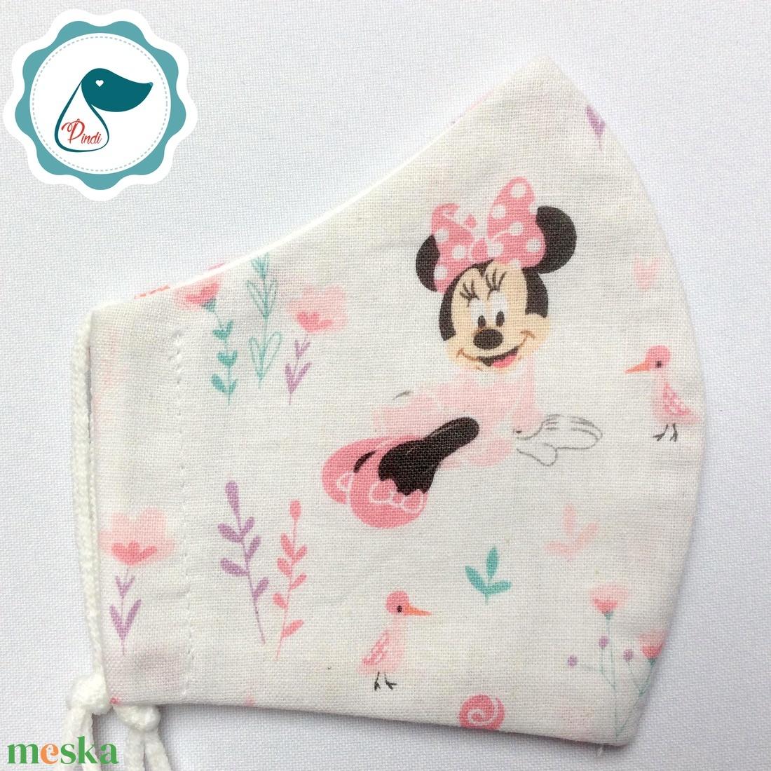 Egyedi minnie mintás maszk - gyerek arcmaszk - textil szájmaszk - egészségügyi szájmaszk - mosható szájmaszk - maszk, arcmaszk - gyerek - Meska.hu