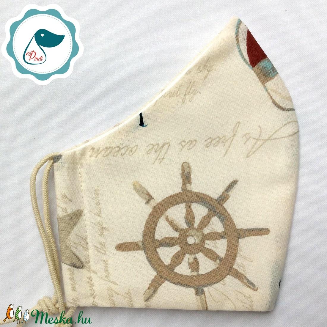 Egyedi tengerész mintás maszk - felnőtt női és teenager maszk - textil szájmaszk - egészségügyi szájmaszk - maszk, arcmaszk - női - Meska.hu