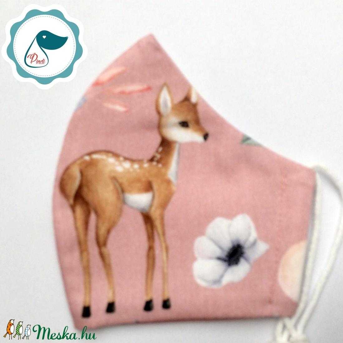 Egyedi őzikés maszk - kiskamasz arcmaszk - prémium textil szájmaszk - egészségügyi szájmaszk - mosható szájmaszk - maszk, arcmaszk - gyerek - Meska.hu