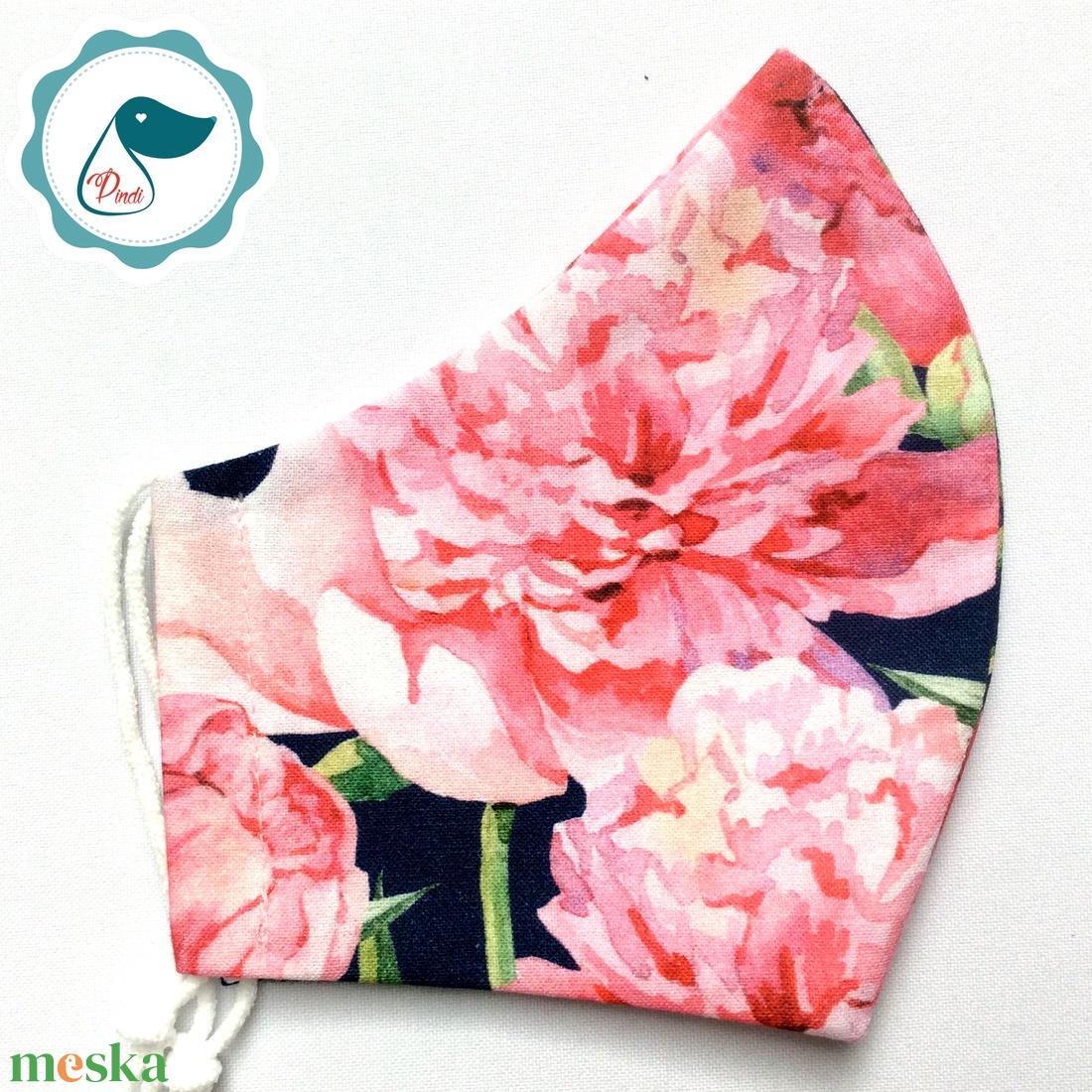 Egyedi rózsás maszk - prémium  női és teenager szájmaszk - nyári textil szájmaszk - egészségügyi szájmaszk - maszk, arcmaszk - Meska.hu