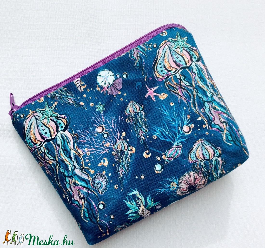 Egyedi tenger élő világa mintás közép méretű neszesszer - táska ki egészítő - vintage neszesszer - aprópénztartó - táska & tok - neszesszer - Meska.hu