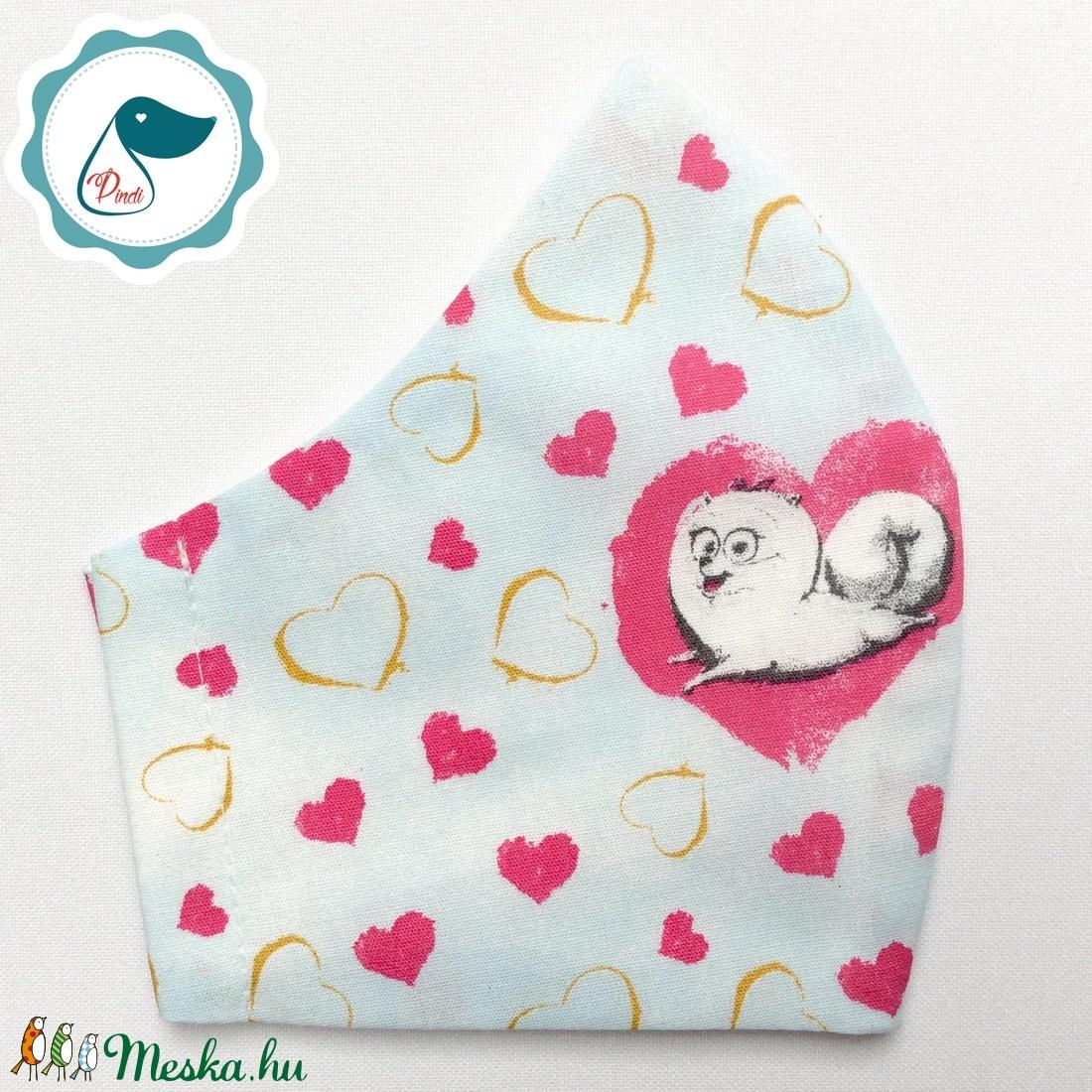Egyedi kutyás maszk - prémium kiskamasz arcmaszk - egészségügyi textil szájmaszk - mosható szájmaszk - maszk, arcmaszk - gyerek - Meska.hu