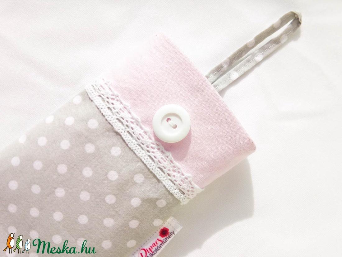 Pasztell bélelt, textil telefontok - táska & tok - pénztárca & más tok - telefontok - Meska.hu