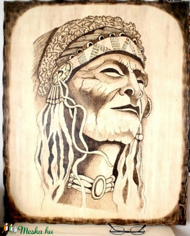 égetett képek Indián  kézzel égetett fa, falikép (pirografika)   Meska.hu égetett képek