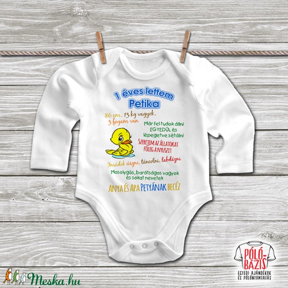 1 éves lettem, ezeket tudom már! Egyedi baby body - Fiús (PoloBazis) - Meska.hu